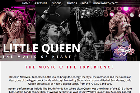 Little Queen the Music of Heart Tribute Band Website