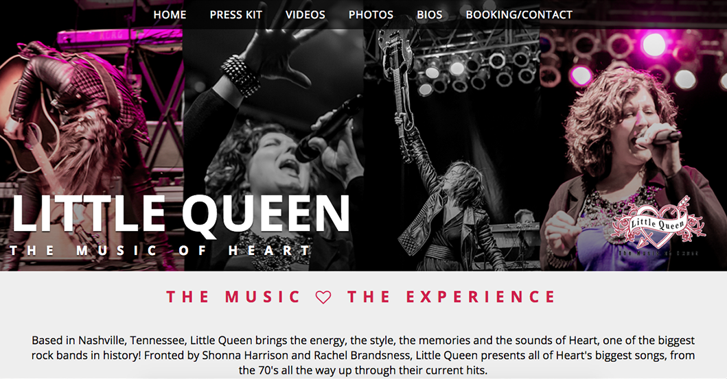 Little Queen Heart Tribute Band Website