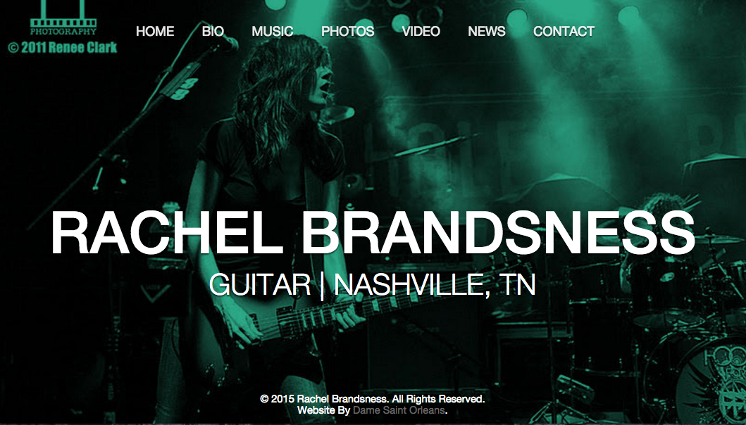 Rachel Brandsness Guitarist Website