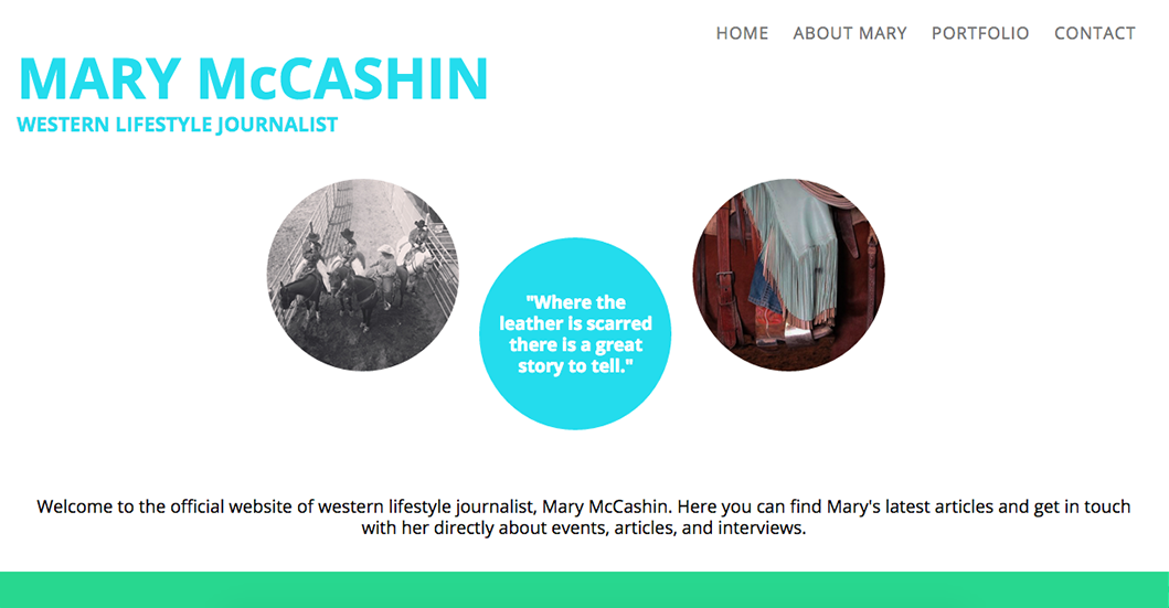 Website of Journalist Mary McCashin