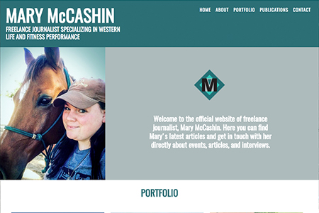 Western and Fitness Journalist Mary McCashin Website